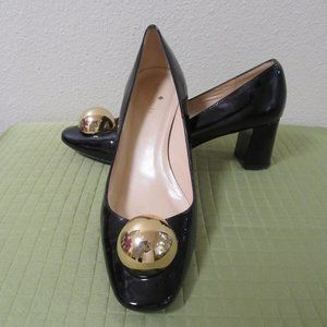 Kate Spade  Black Patent Leather Pumps Size 9B